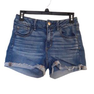 AMERICAN EAGLE OUTFITTERS HI RISE SHORTIE SIZE:4
